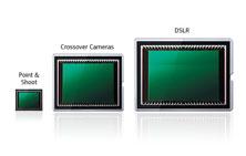 שלושה חיישנים דיגיטליים עם גדלים שונים