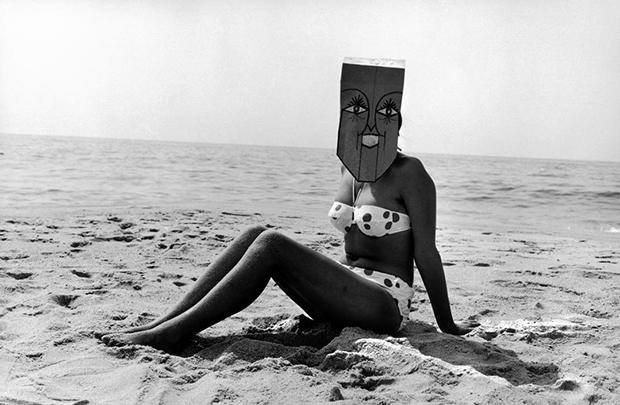 סול-סטיינברג-ואינגה-מורת'-מתוך-סדרת-המסכות-1962