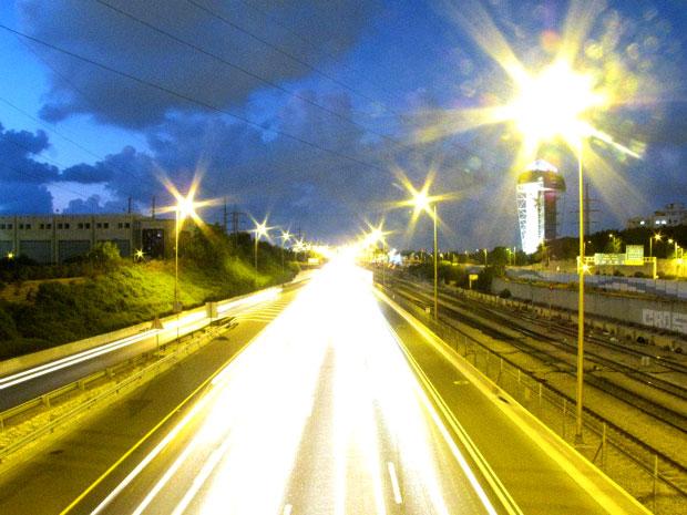 תמונה מקורס צילום, איילון דרום בלילה,