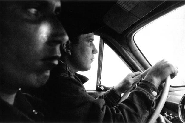 רוברט פרנק, the americans, שני בחורים נוהגים במשאית