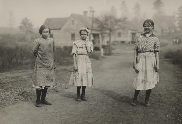 צילום של שלוש ילדות, לואיס היין
