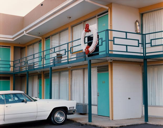 he-National-Civil-Rights-Museum,-formerly-the-Lorraine-Motel,-450-Mulberry-Street,-Memphis,-Tennessee,-August-1993